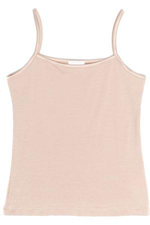 La Perla Girls Tank Tops - Satin-trimmed sleeveless top