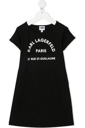 Karl Lagerfeld Girls Printed Dresses - Logo print T-shirt dress