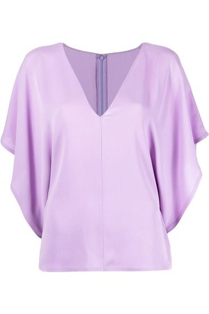 VALENTINO Georgette V-neck blouse