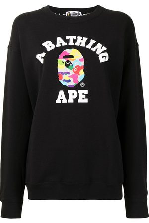 *BABY MILO® STORE BY *A BATHING APE® Women Sweatshirts - Logo-print cotton sweatshirt