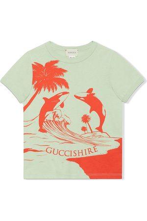 Gucci Gucci Shire whale-print T-shirt