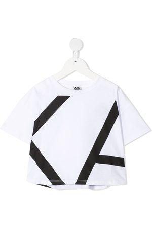 Karl Lagerfeld Girls Short Sleeve - Oversized logo print T-shirt