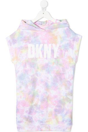 DKNY Girls Casual Dresses - Tie-dye logo dress