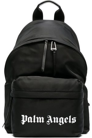 Palm Angels Men Rucksacks - Small logo print backpack