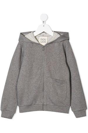 DOUUOD KIDS Boys Hoodies - Logo print hoodie