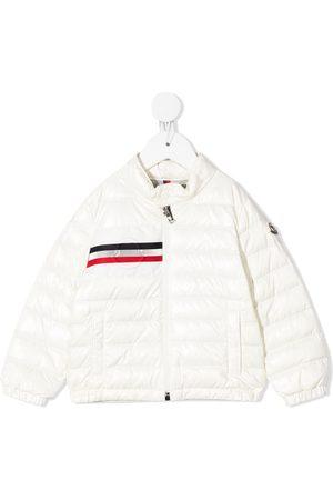 Moncler Baby Jackets - Logo-stripe padded jacket