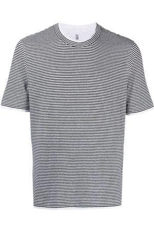Brunello Cucinelli Striped crew-neck T-shirt