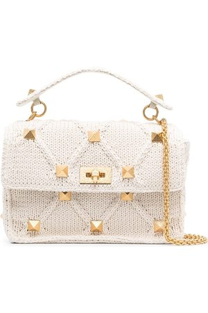 VALENTINO GARAVANI Knitted Roman Stud top handle bag