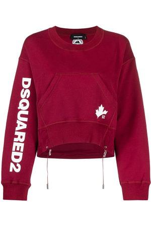 Dsquared2 Women Sweatshirts - D2 Leaf Active crew neck sweatshirt