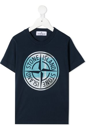 Stone Island TEEN logo-print T-shirt