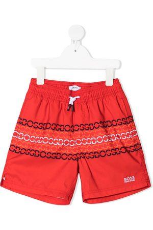 HUGO BOSS Boys Swimming Briefs - Logo-print swim shorts