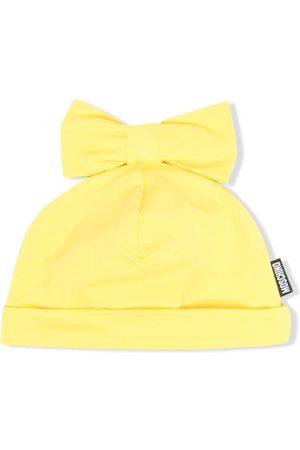 Moschino Baby Beanies - Bow-detailed beanie hat