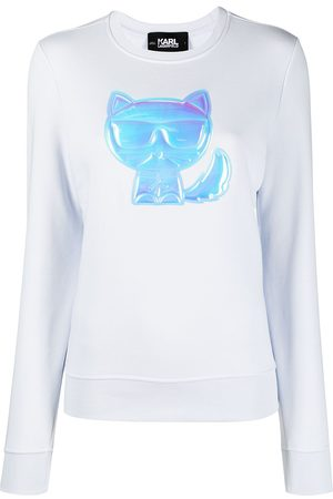 Karl Lagerfeld Women Sweatshirts - Ikonik Choupette-patch sweatshirt
