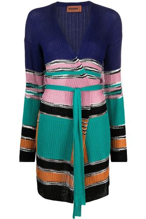 Missoni Striped belted cardigan