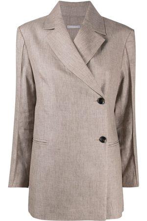 12 STOREEZ Asymmetric longline blazer