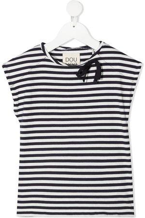 DOUUOD KIDS Girls Short Sleeve - Striped short-sleeved T-shirt