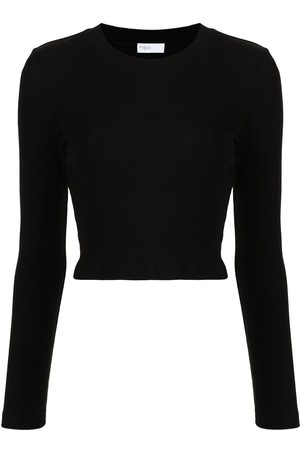 ROSETTA GETTY Long-sleeved cotton T-shirt