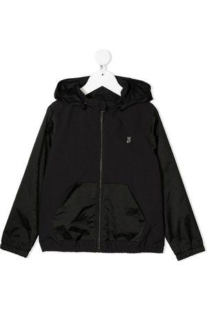HERNO Logo print bomber jacket