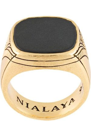 Nialaya Vintage onyx cocktail ring