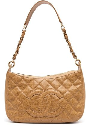 CHANEL 2002 diamond quilted CC shoulder bag