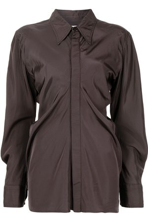 Bottega Veneta Fluid parachute long-sleeve shirt