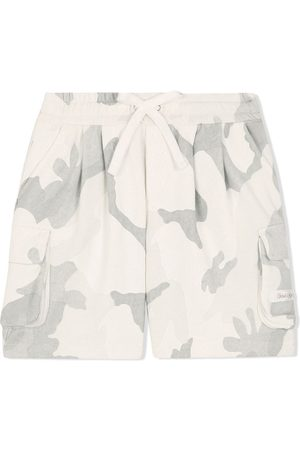 Dolce & Gabbana Boys Shorts - Camouflage-print cargo shorts