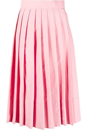 Plan C Knife-pleat knee-length skirt