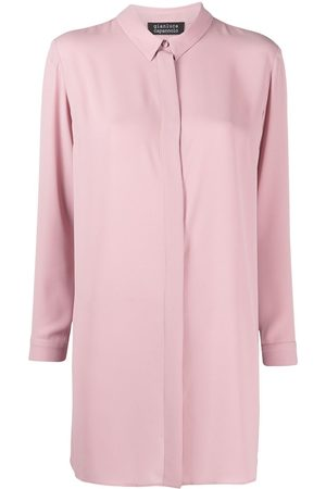 GIANLUCA CAPANNOLO Women Long Sleeve - Long-sleeved concealed shirt