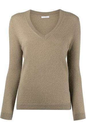 12 STOREEZ Women Jumpers - Ribbed-knit V-neck cashmere sweater