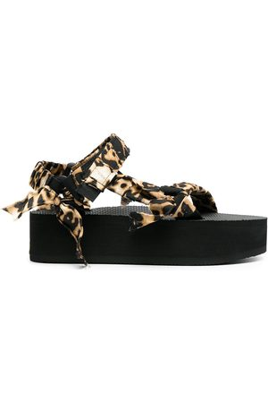Arizona Love Women Wedged Sandals - Trekky leopard-print wedge sandals