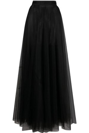 LOULOU Sheer flared maxi skirt