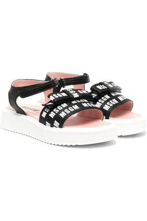 Msgm Girls Sandals - Logo-print sandals