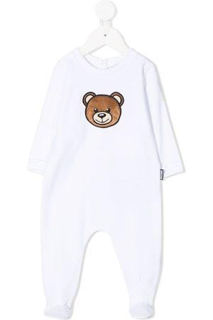 Moschino Teddy bear-patch cotton-blend pajamas