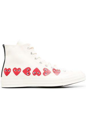Comme Des Garçons Play x Converse Sneakers - Multi Hearts hi-top sneakers