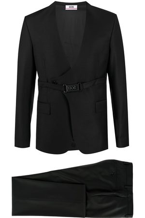 GCDS Men Suits - Double-breasted belted two-piece suit