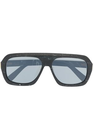 Dunhill Ferry marbled rectangular sunglasses