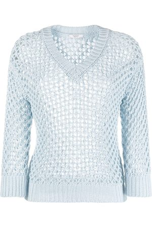 PESERICO SIGN Women Jumpers - Open-knit round neck jumper