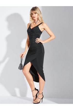 YOINS BASICS Wrap Split Design Spaghetti Strap Dress