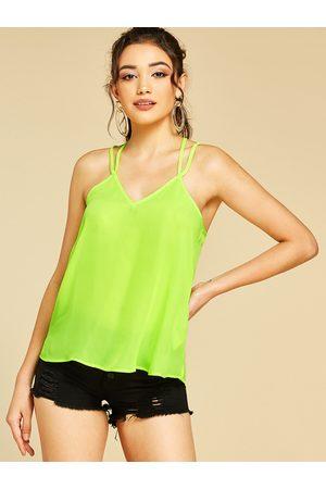 YOINS BASICS Neon Spaghetti Strap V-neck Camis