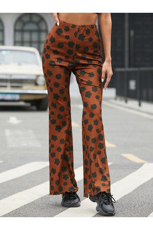 YOINS Floral print Flared Pants