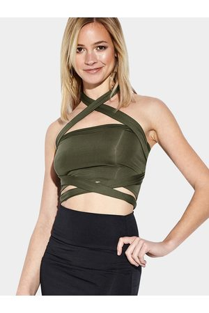 YOINS Sexy Crop Top with Cutout Details
