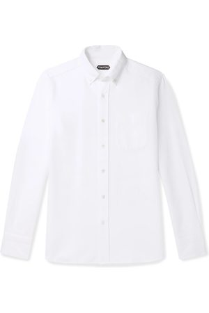 Tom Ford Men Casual - Slim-Fit Button-Down Collar Cotton-Poplin Shirt