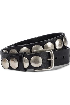 Golden Goose Trinidad studded leather belt