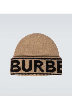 Burberry Men Beanies - Logo intarsia cashmere beanie