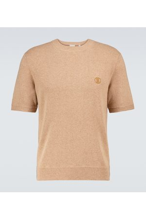 Burberry Men Short Sleeve - Linden knitted cashmere T-shirt