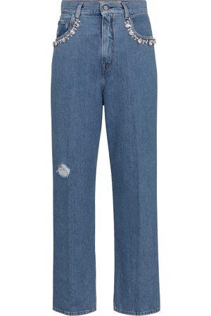 Golden Goose Kim embellished straight jeans