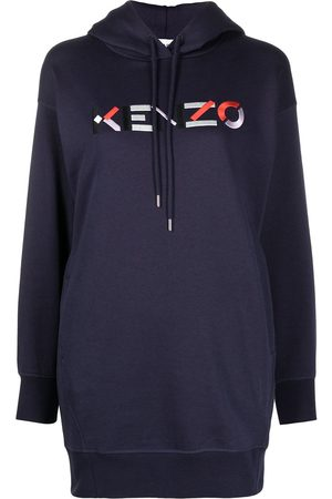 Kenzo Embroidered long logo hoodie