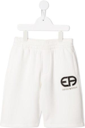 Emporio Armani Embroidered logo shorts