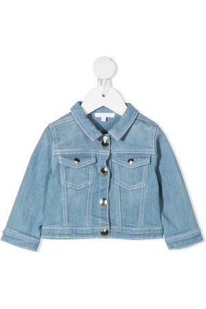 Chloé Girls Bomber Jackets - Faded denim jacket