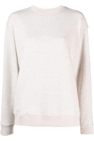 12 STOREEZ Women Sweatshirts - Speckle-knit sweatshirt